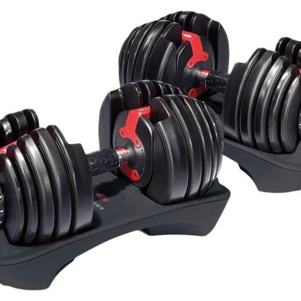 Verstellbare Kurzhantel Set - Intelligentes Hantelsystem - Einstellbare Hanteln kaufen - Geschenk für Sportler - Bowflex