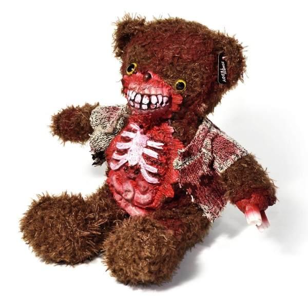 Zombie Teddy kaufen Geschenk für Horror Fans - Teddybär, Kuscheltier, Plüschtier, Stofftier - hässlich mit offenem Bauch 2