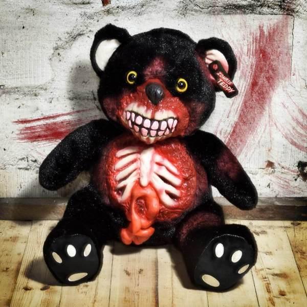 Zombie Teddy kaufen Geschenk für Horror Fans - Teddybär, Kuscheltier, Plüschtier, Stofftier - offener Bauch 2