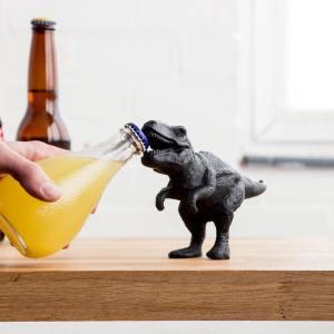 Aussergewöhnliche Flaschenöffner ungewöhnlich Kapselheber ausgefallen Bieröffner - coole, besondere, beste, edle, edel, lustige, originelle, aus Holz - T-Rex