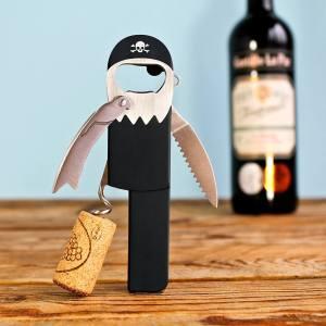 Aussergewöhnliche Flaschenöffner ungewöhnlich Kapselheber ausgefallen Bieröffner - coole, besondere, beste, originelle, aus Holz - Lustig Pirat