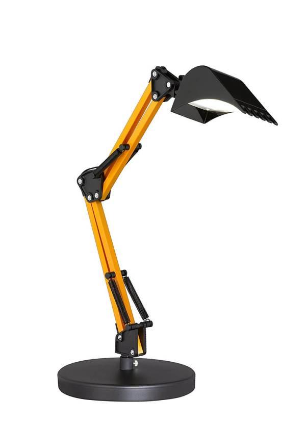 Lampe Tischleuchte in Bagger-Design Bagger-Optik Schaufelbagger-Optik Männlich einrichten