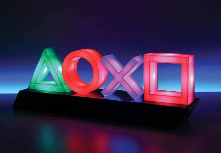 Playstation Icon Lampe leuchtend Geschenk für Bruder Geschenk für Partner Geschenke für Männer kaufen Playstation Geschenk PS Lampe