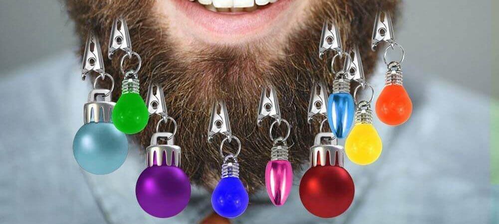 Bart Christkugeln - Weihnachtsgeschenke für Hipster - Weihnachtsgeschenk für Bartträger - Geschenk zu Weihnachten für Alternative