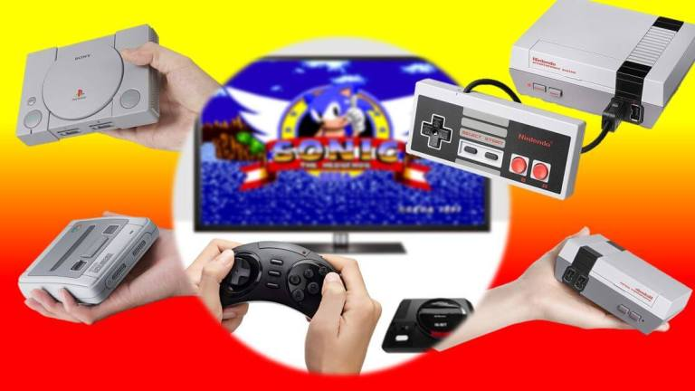 Die 4 besten Mini-Retro-Konsolen – 110% Liebe! www.was-maenner-wollen.de Titelbild - Männergeschenke Best Of - Konsolen im Vergleich.- alle Retro Konsolen - Alle Mini Konsolen - Sony Playstation Classic Mini - Nintendo Super Nintendo SNES NES - Sega Mega Drive HD