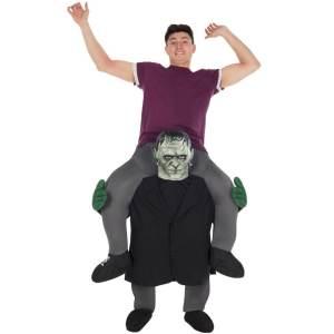 105 Carry Me Kostüm Frankenstein Frankensteins Monster Huckepack Kostüm Dunkles Wesen Verkleidung Fabelwesen Piggyback Ride On auf den Schultern Faschings Karneval Kostüm Halloween