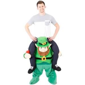 108 Carry Me Kostüm Leprechaun Huckepack Kostüm irischer Kobold Monster Verkleidung Fabelwesen Piggyback Ride On auf Schultern Faschings Karneval Kostüm Halloween JGA Carry Me Bestseller