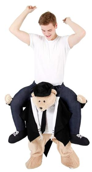 11 Huckepack Rabbi Bär Juden Bär Juden Kostüm Teddybär Tierkostüm Piggyback Ride On auf dem Rücken Kostüm Faschings Geschenk Karneval Kostüm