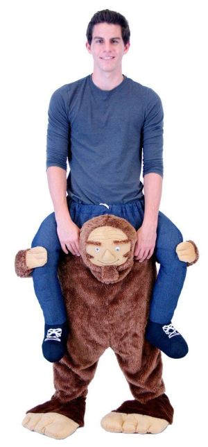 115 Carry Me Kostüm Big Foot Huckepack Kostüm Sasquatch Verkleidung Fabelwesen Piggyback Ride On auf den Schultern Faschings Karneval Kostüm Halloween JGA Carry Me Bestseller