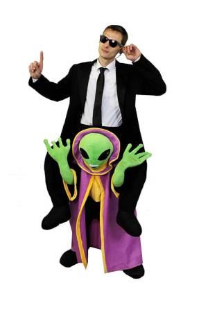 134 Carry Me Kostüm Alien Huckepack Kostüm Ausserirdische Verkleidung Fabelwesen Piggyback Ride On auf den Schultern Kostüm Faschings Karneval Kostüm Halloween JGA Carry Me Bestseller