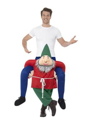 138 Carry Me Kostüm Zwerg Huckepack Kostüm Zwerg Verkleidung Fabelwesen Piggyback Ride On auf den Schultern Kostüm Faschings Karneval Kostüm Halloween JGA Carry Me Bestseller