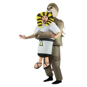158 Carry Me Kostüm aufgeblasene Mumie Huckepack Kostüm Lift Me Up Mumie Verkleidung Fabelwesen Piggyback Ride On auf den Schultern Kostüm Faschings Karneval Kostüm Halloween JGA
