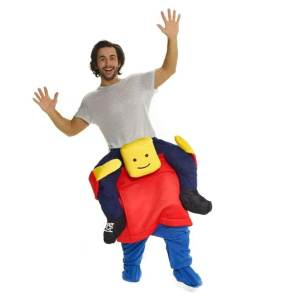 163 Carry Me Kostüm Lego Figur Huckepack Legofigur Verkleidung Fabelwesen Ride On auf den Schultern Kostüm Faschings Karneval Kostüm Halloween Fastnacht JGA Carry Me Bestseller DIY