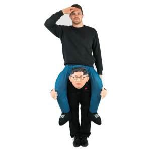 201 Carry Me Kostüm Kim Jong-un Huckepack Kostüm Diktator Verkleidung Fabelwesen Piggyback Ride On auf Schultern Kostüm Faschings Karneval Kostüm Halloween JGA Carry Me Bestseller DIY