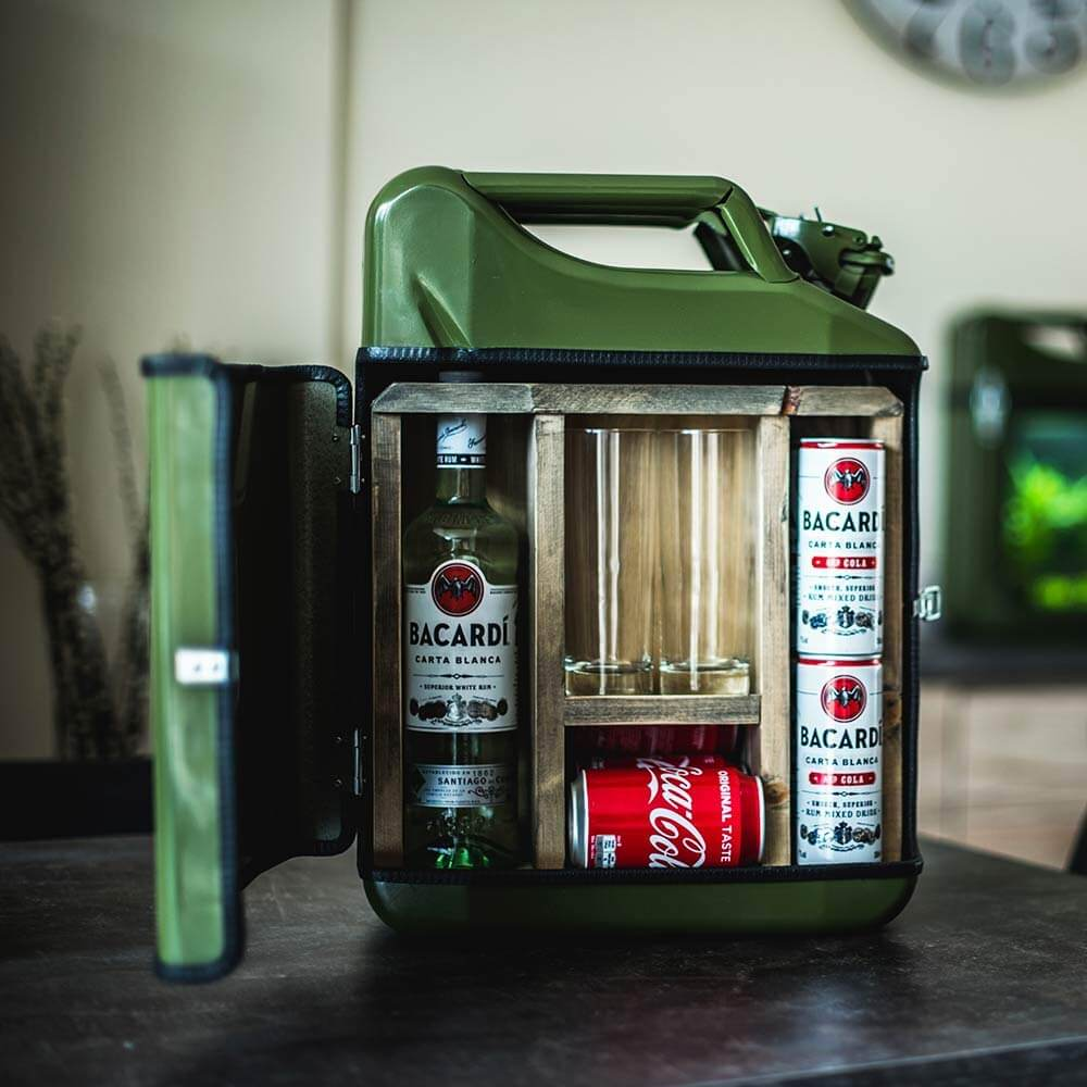 20l Kanister Bar Schwarz Das Whiskyversteck Aus Retro-Benzinkanistern 2