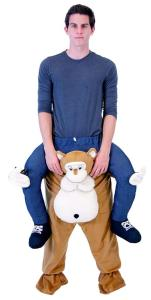 21 Huckepack Affe Kostüm Affen Verkleidung Tierkostüm Piggyback Ride On auf den Schultern Kostüm Faschings Geschenk Karneval Kostüm Halloween Fastnacht
