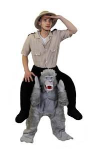 28 Huckepack böser Gorilla Kostüm Affen Verkleidung Tierkostüm Piggyback Ride On auf den Schultern Kostüm Faschings Geschenk Karneval Kostüm Halloween Fastnacht