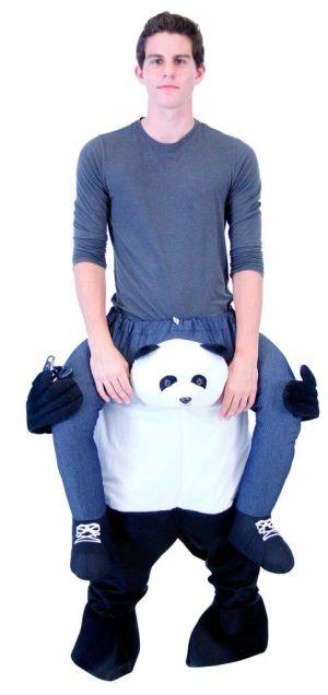 31 Huckepack Panda Kostüm Panda Verkleidung Tierkostüm Piggyback Ride On auf den Schultern Kostüm Faschings Geschenk Karneval Kostüm Halloween Rosenmontag Rathaussturm Kostüme