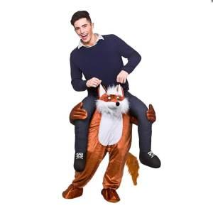 38 Huckepack Fuchs Kostüm Fuchs Verkleidung Tierkostüm Piggyback Ride On auf den Schultern Kostüm Faschings Geschenk Karneval Kostüm Halloween Fastnacht Ohne Rotkäppchen