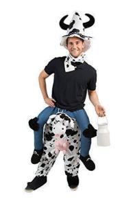 58 Carry Me Kostüm lustiges Kuh Huckepack Kostüm Kuh Verkleidung Tierkostüm Piggyback Ride On auf den Schultern Kostüm Faschings Karneval Kostüm Halloween JGA Junggesellenabschied