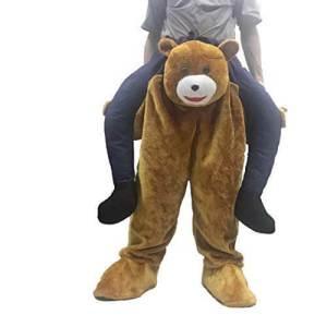 8 Huckepack Bär Kostüm Teddybär Tierkostüm Piggyback Ride On auf dem Rücken Kostüm Faschings Geschenk Karneval Kostüm