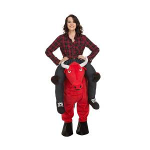 85 Carry Me Kostüm Bulle Huckepack Kostüm Bulle Verkleidung Tierkostüm Piggyback Ride On auf den Schultern Kostüm Faschings Karneval Kostüm Halloween JGA Junggesellenabschied
