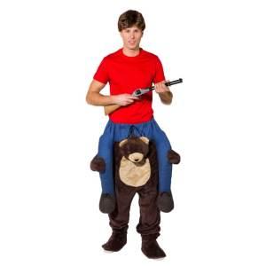9 Carry Me Bär Jägerkostüm für Fasching Teddy Piggyback Ride On auf dem Rücken Faschings Geschenk Kostüm beste Auswahl an Huckepack Kostümen