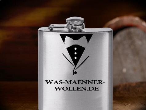 Personalisierter gravierter Flachmann - Geschenke für Männer kaufen - personalisierte Männergeschenke - personello Flachmann