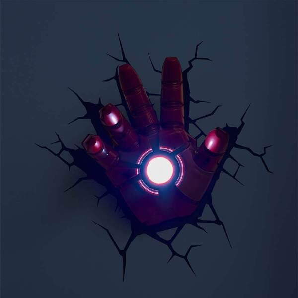 Superhelden 3D Wandleuchten – Optisch ein Highlight - Ironman Hand 2