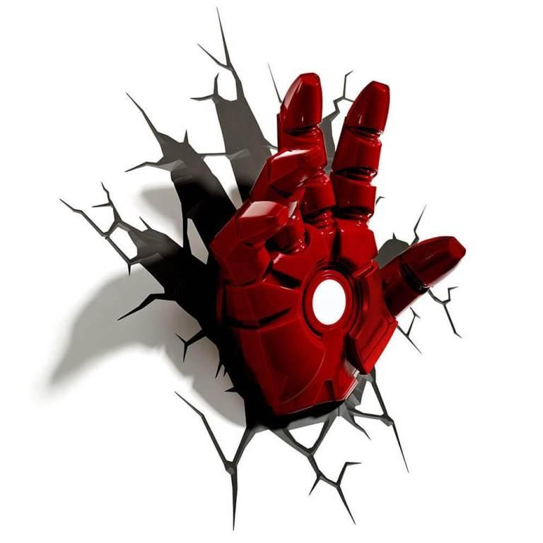 Superhelden 3D Wandleuchten – Optisch ein Highlight - Ironman Hand 3