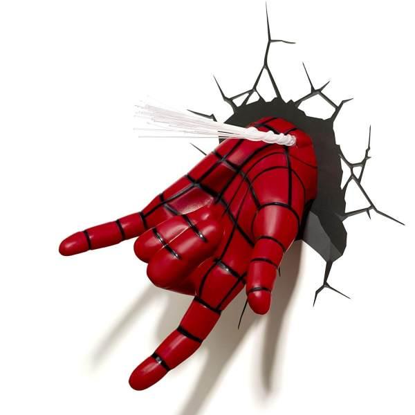 Superhelden 3D Wandleuchten – Optisch ein Highlight - Spiderman Hand 3
