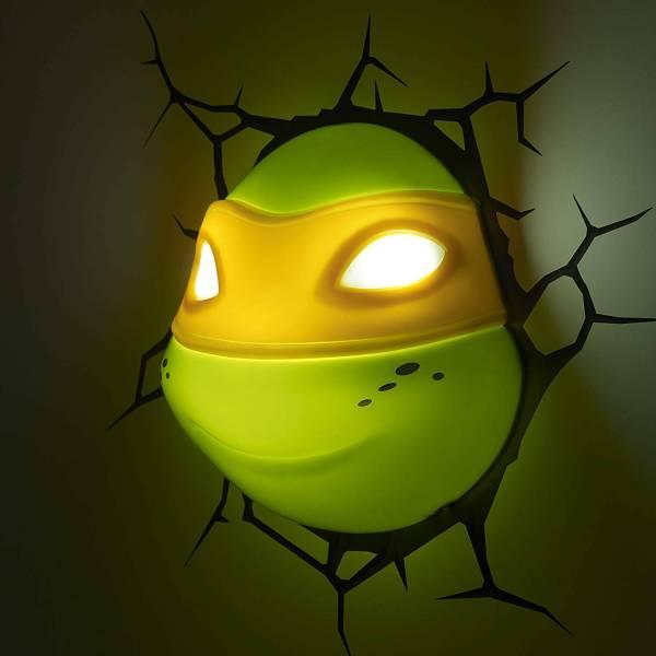 Superhelden 3D Wandleuchten – Optisch ein Highlight - Turtles Michelangelo