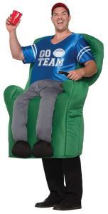 306 Carry Me Kostüm Football Couch Sessel LIFT ME UP Verkleidung Piggyback Ride On auf den Schultern Football-Fan getragen Faschings Karneval Kostüm Halloween Junggesellenabschied DIY