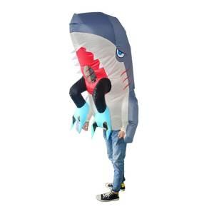 309 Carry Me Kostüm vom Hai gefressen LIFT ME UP Verkleidung Piggyback Ride On auf den Schultern getragen Menschenfresser Hai Faschings Karneval Kostüm Halloween Junggesellenabschied DIY