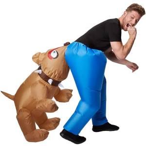 310 Carry Me Kostüm vom Hund in den Hintern gebissen LIFT ME UP Verkleidung Piggyback Ride On auf den Schultern getragen Hunde-Biss Faschings Karneval Kostüm Halloween DIY JGA
