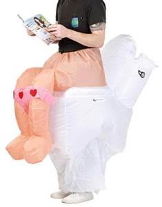313 Carry Me Kostüm Toiletten LIFT ME UP Verkleidung Piggyback Ride On auf den Schultern getragen WC immer dabei Faschings Karneval Kostüm Halloween Junggesellenabschied DIY