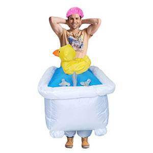 314 Carry Me Kostüm Badewanne LIFT ME UP Verkleidung Piggyback Ride On auf den Schultern getragen Duschwanne Faschings Karneval Kostüm Halloween Junggesellenabschied DIY