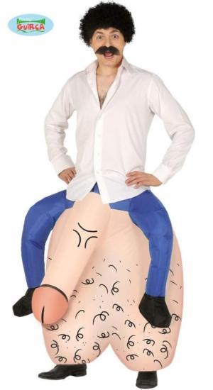 315 Carry Me Kostüm Dicke Eier versaut LIFT ME UP Verkleidung Piggyback Ride On auf den Schultern getragen Penis Hoden Faschings Karneval JGA Kostüm Halloween Junggesellenabschied DIY