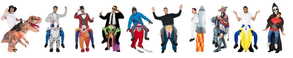 Startseite Größte und witzigste Auswahl an Carry Me Kostümen