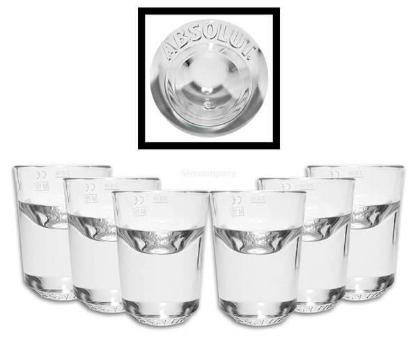 14 6 Premium Schnapsgläser - Designer Shotgläser-Set Konstantin Grcic - Absolut Vodka - Shot Becher - Tequila Gläser - Schnaps Becher - Stamperl - Pinneken - Pinnchen - Schott Glas - Gläser Set