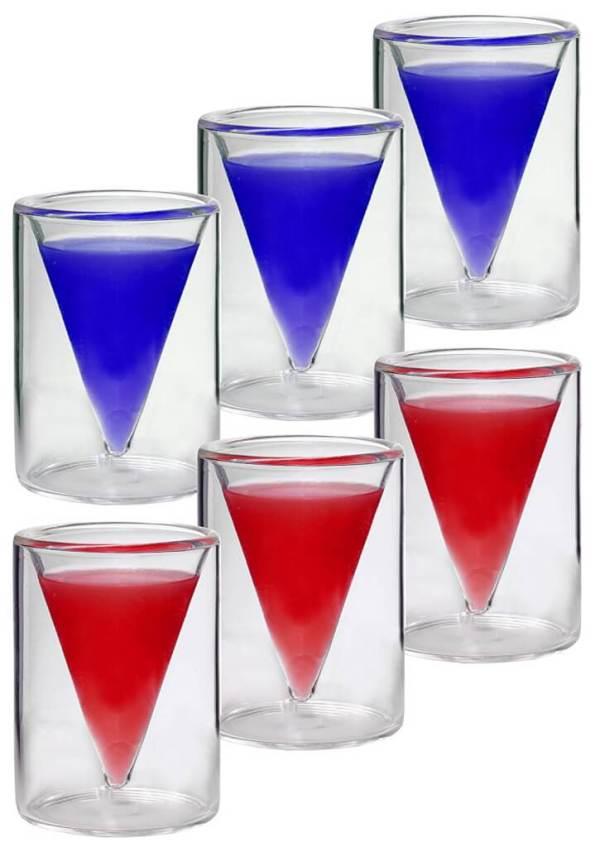 4 6 Doppelwand Schnapsgläser mit Schwebeeffekt - Shotgläser im edlen Design - Spitze Shot Becher - Tequila Gläser - Schnaps Becher - Stamperl - Pinneken - Pinnchen - Schott Glas - Gläser Set