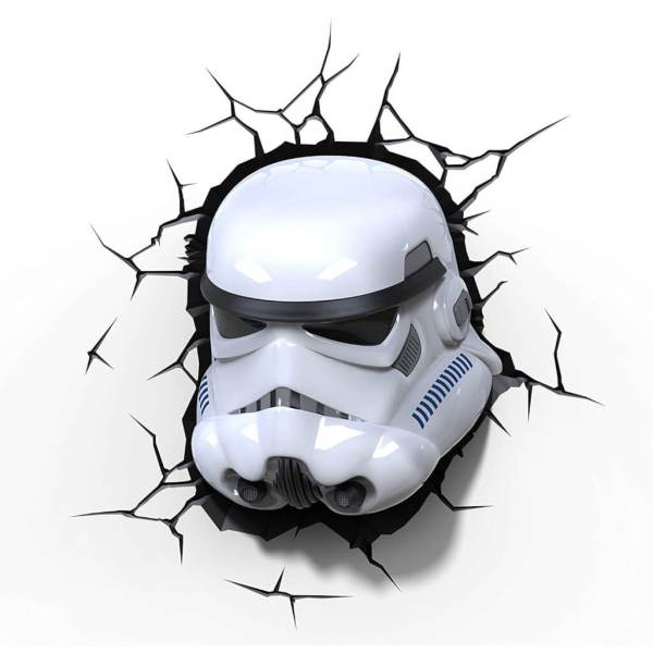 Star Wars 3D Wandlampe - Stormtrooper - Superhelden Lampe - Wandlampe in 3D - Durch die Wand Lampe - 3D Lampe Star Wars