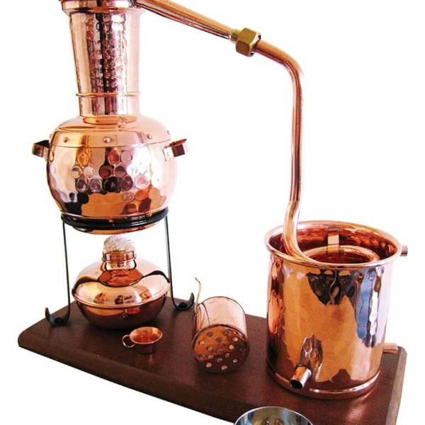 """0,5l Destille """"Kalif"""" ohne Thermometer, mit Aromakorb"""