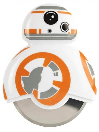 BB-8 Star Wars Pizzaschneider - Geschenk für Star Wars Fan - Star Wars Pizzamesser - Star Wars Pizzaroller