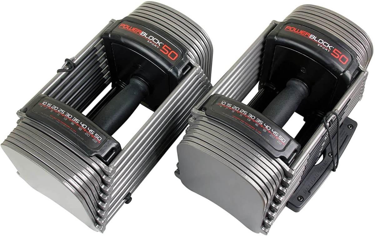 PowerBlock Sport 50 Hantelsystem - platzsparendes Hantelsystem - 9 in 1 Hantel - verschiedene Gewichte Hantel - Geschenke für Männer kaufen
