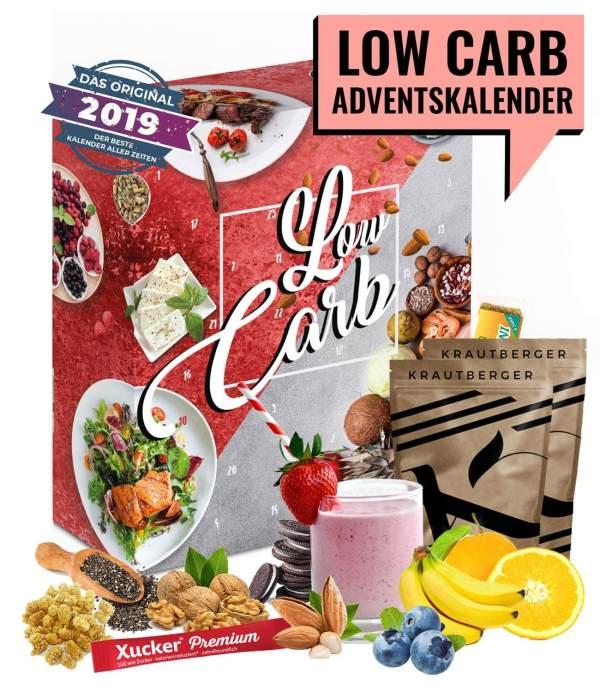19 Low Carb Adventskalender - Adventskalender für den Mann - Fitness Adventskalender zur Gewichtsreduktion - Adventskalender für Sportler