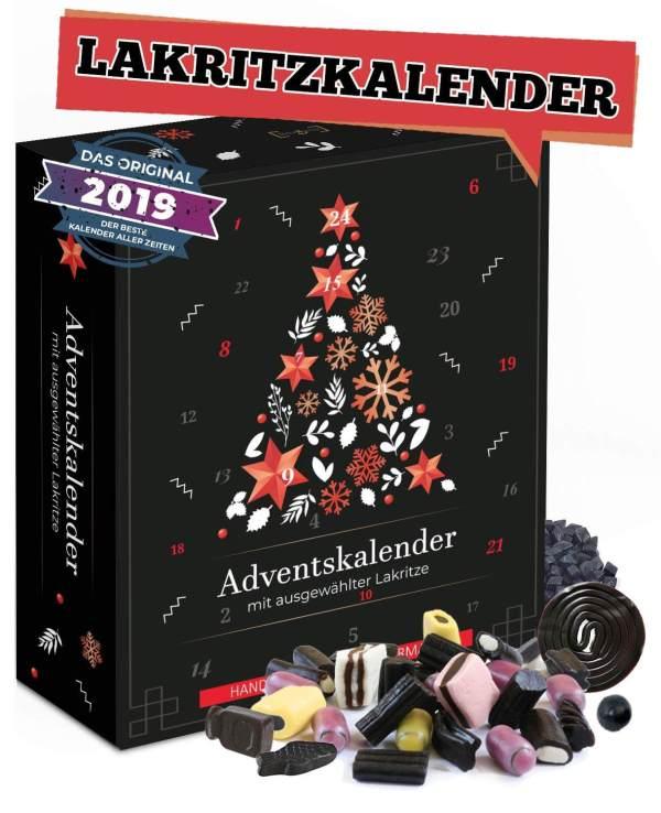 21 Lakritz Adventskalender für echte Männer - Adventskalender mit Lakritze - Adventskalender für Lakritz-Liebhaber