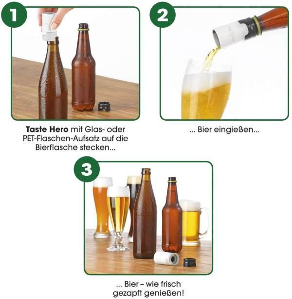 Flaschenaufsatz für frisch gezapftes Bier - mobile Bierzapfanlage - Bier unterwegs zapfen - Gadget für Männer - günstiges Männergeschenk