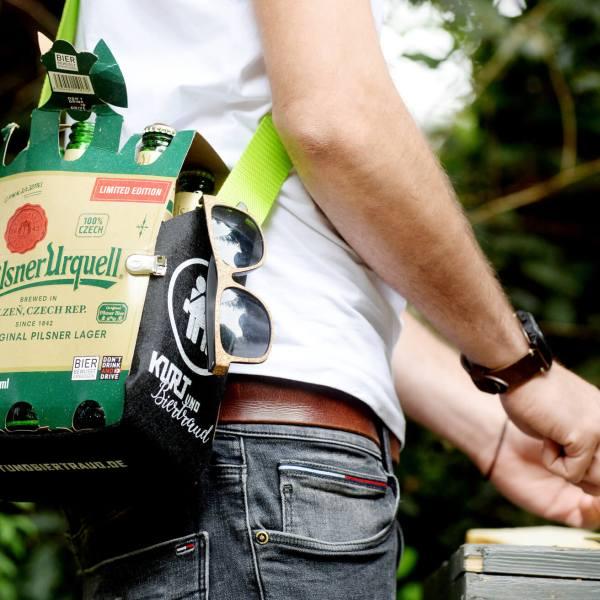 Sixpack Bierträger Herrenhandtasche Sixpack einfach wie eine Tasche tragen 1