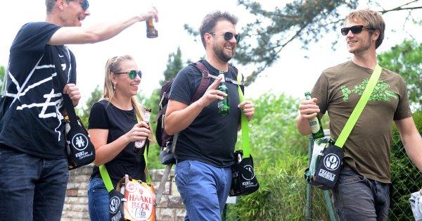 Sixpack Bierträger Herrenhandtasche Sixpack einfach wie eine Tasche tragen 4